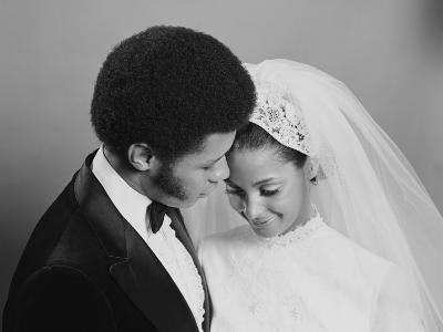 Newlywed Couple, Groom Leaning in Towards Bride-H^ Armstrong Roberts-Photographic Print