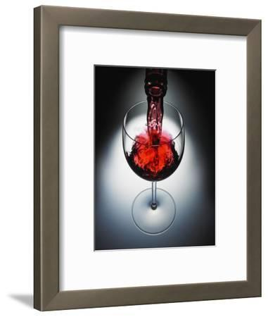Wine poured in glass