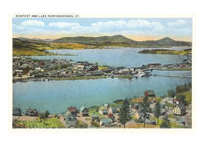 Newport and Lake Memphremagog, Vermont--Art Print