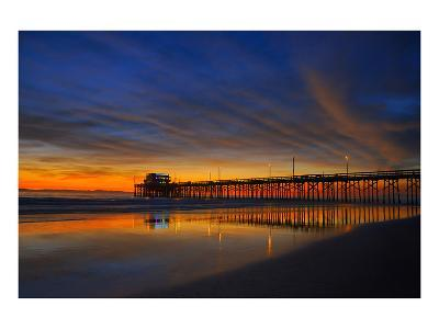 Newport Beach Pier at Sunset--Art Print