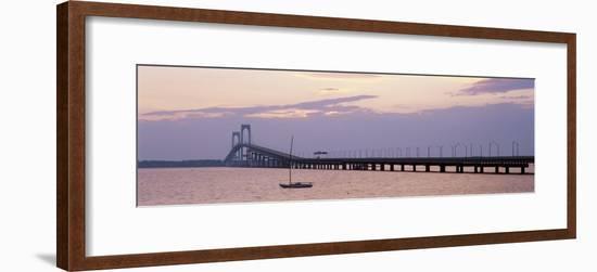 Newport Bridge, Narragansett Bay, Rhode Island, USA-Elizabeth Yardley-Framed Photographic Print