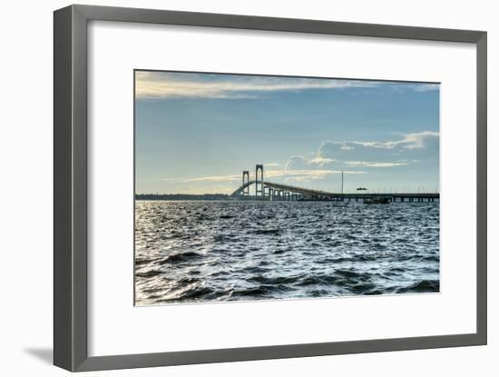 Newport Bridge - Rhode Island-demerzel21-Framed Photographic Print