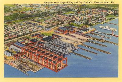 Newport News Shipyard--Art Print