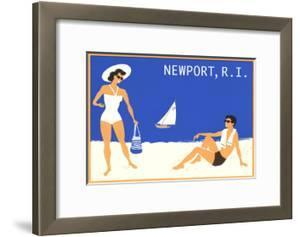 Newport, Rhode Island, Couple on Beach