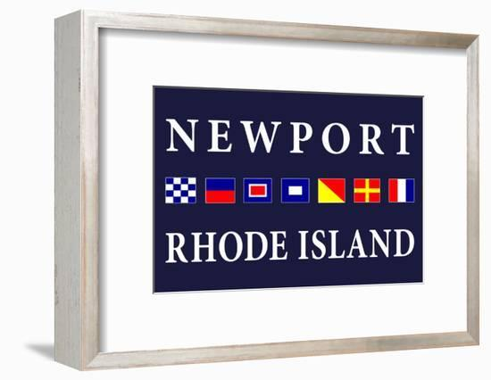 Newport, Rhode Island - Nautical Flags-Lantern Press-Framed Art Print