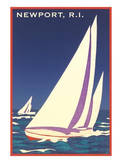 Newport, Rhode Island, Sailboat Graphics--Art Print