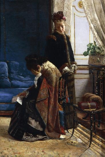 News from Afar, 1875-Pier Celestino Gilardi-Giclee Print