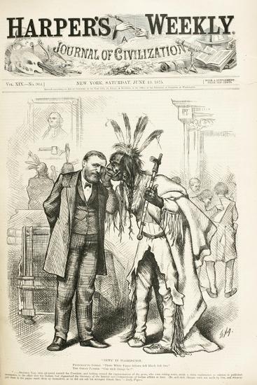 News in Washington, 1875-Thomas Nast-Giclee Print