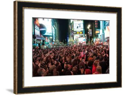 News of Bin Laden I-Erin Berzel-Framed Photographic Print