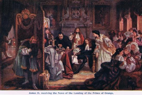 News of the Landing of the Prince of Orange-Edward Matthew Ward-Giclee Print