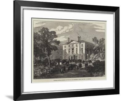 Newsham House, Occupied by the Duke of Edinburgh During His Visit to Liverpool--Framed Giclee Print