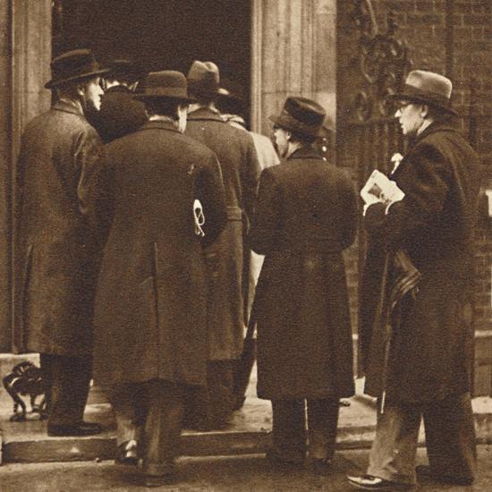 'Newspaper men at No. 10', Dec 1936 (1937)-Unknown-Photographic Print