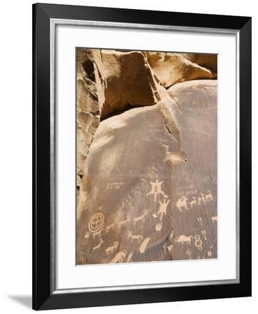 Newspaper Rock, Newspaper Rock Recreation Site, Utah, USA-Kober Christian-Framed Photographic Print