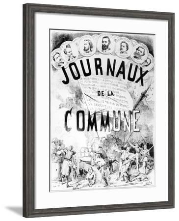 Newspapers of the Commune in Paris, 1870-71--Framed Giclee Print