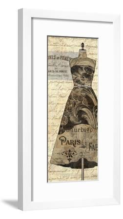 Newsprint Dior II-Suzanne Nicoll-Framed Giclee Print