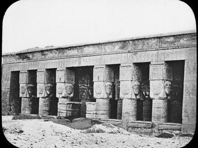 Temple of Hathor, Dendera, Egypt, C1890