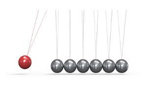 Newton Cradle Ball Pendulum