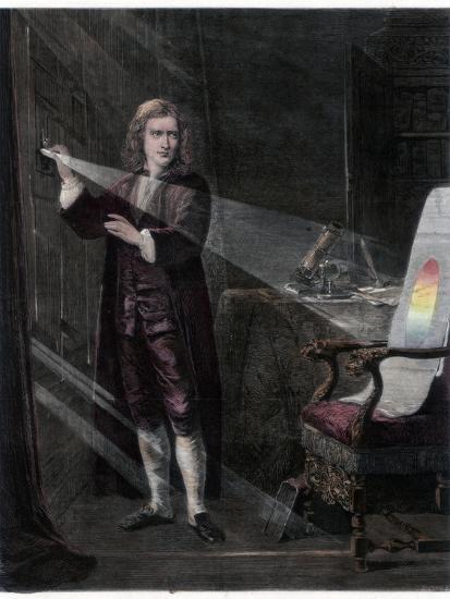 Newton Investigating Light, 1870-William Mouat Loudan-Giclee Print