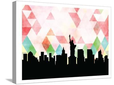 Newyork Triangle-Paperfinch 0-Stretched Canvas Print