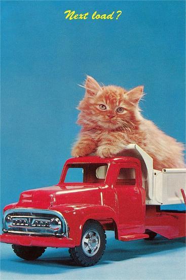 Next Load? Kitten in Toy Truck--Art Print