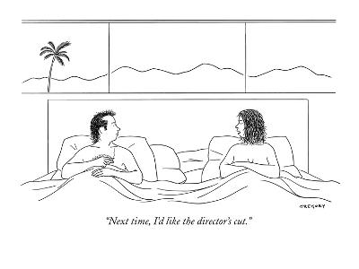 """""""Next time, I'd like the director's cut."""" - New Yorker Cartoon-Alex Gregory-Premium Giclee Print"""