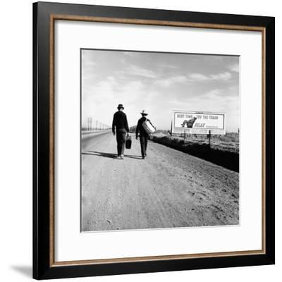 Next Time Try the Train Relax Southern Pacific, March 1937-Dorothea Lange-Framed Photo
