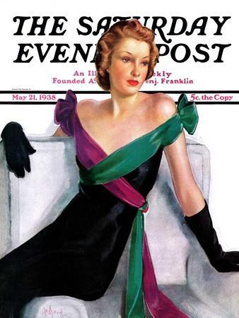"""""""Evening Gown,"""" Saturday Evening Post Cover, May 21, 1938"""