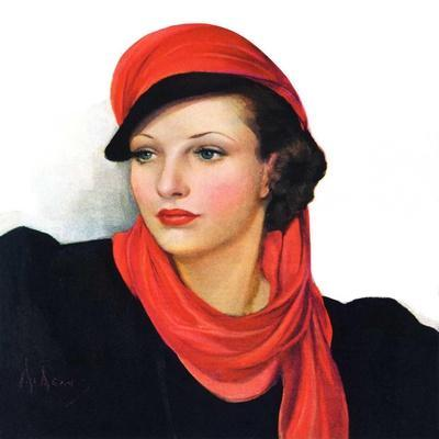 """""""Portrait in Black and Red,""""January 7, 1939"""