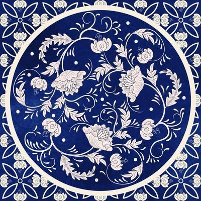 Vector Background. Beautiful Floral round Pattern in Chinese Style. Simple Delicate Decor. Imitatio
