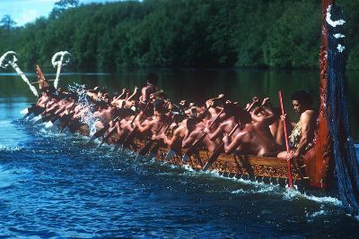 Ngaruawahia River Regatta, Maori Festival, Ngaruawahia, New Zealand--Photographic Print