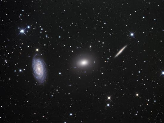 Ngc 5985, 5982, and 5981 Galaxies in Draco-Robert Gendler-Photographic Print