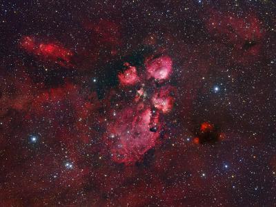 Ngc 6334, the Cat Paw Nebula-Robert Gendler-Photographic Print