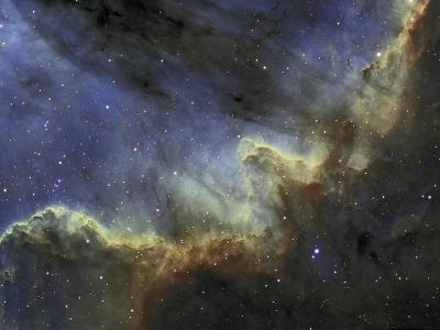 Ngc 7000, the North American Nebula or Cygnus Wall, Emission Line Mapping-Matthew Russell-Photographic Print