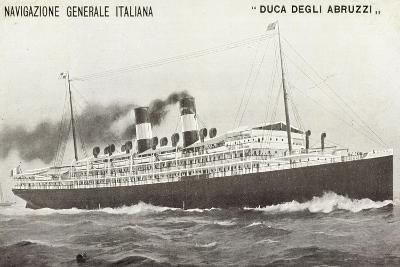 Ngi, Duca Degli Abruzzi, Navigazione Generale Italia--Giclee Print