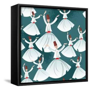 Whirling Dervishes. Seamless Background Pattern. Vector Illustration by NGvozdeva