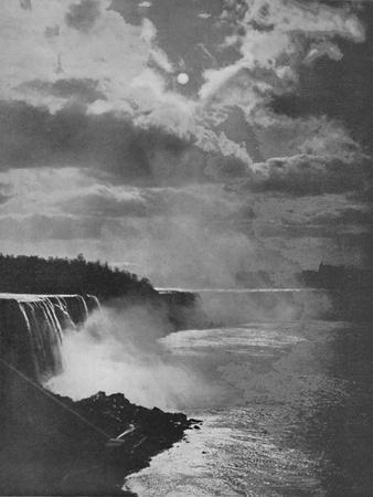 'Niagara By Moonlight', 19th century-Unknown-Framed Photographic Print