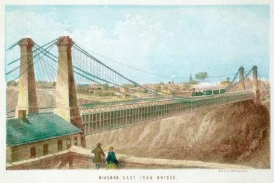 Niagara Cast Iron Bridge, New York, USA, C1855-C1860--Giclee Print