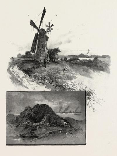 Niagara District, Old Fort Erie, and Windmill, Canada, Nineteenth Century--Giclee Print