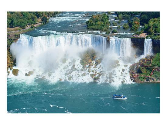 Niagara Falls Aerial Panorama--Art Print