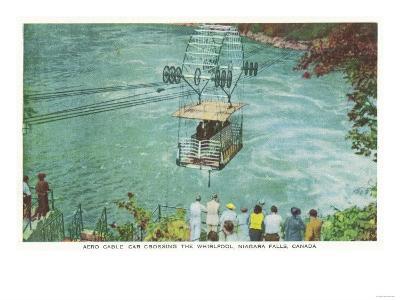 Niagara Falls, Canada - Cable Car Crossing the Whirlpool-Lantern Press-Art Print