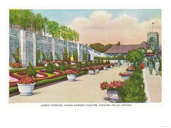 Niagara Falls, Canada - Oakes Garden Theatre Lower Terrace-Lantern Press-Art Print