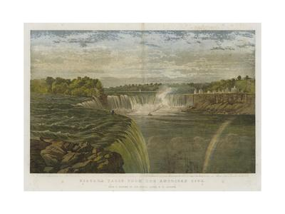 Niagara Falls from the American Side-George Henry Andrews-Giclee Print