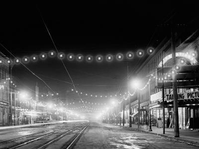 Niagara Falls, N.Y. Falls Street at Night--Photo
