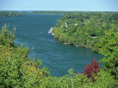 Niagara River Flowing Between Lakes Erie and Ontario from Queenstown Heights, Ontario, Canada-Robert Francis-Photographic Print