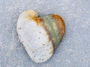 Heart-Shaped Pebble, Scotland, UK by Niall Benvie