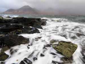 Shoreline with Approaching Squall, Loch Na Keal, Mull, Inner Hebrides, Scotland, UK, December 2007 by Niall Benvie