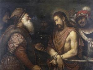Christ Before Caiaphas, Conserved at the Galleria Estense in Modena by Niccolo Frangipane