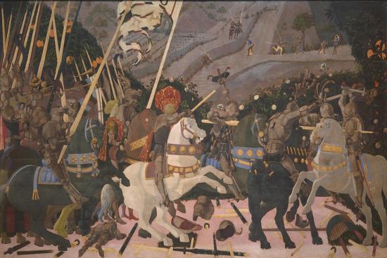 Niccolò Mauruzi Da Tolentino at the Battle of San Romano, C. 1440-Paolo Uccello-Giclee Print