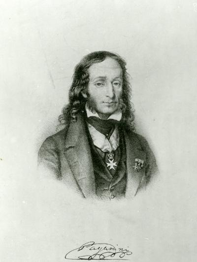 Niccolo Paganini (1782-1840)--Giclee Print