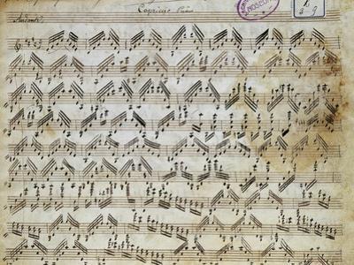 Sheet Music of Capricci, 10, for Violin Solo by Niccolo Paganini